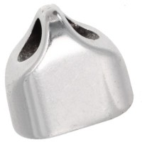Endkappe, 13 x 13,5 mm, versilbert, geeignet für 5 mm Segelseil