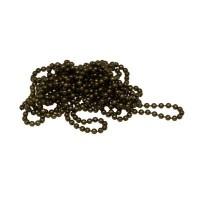 Kugelkette, Durchmeser 1,5 mm, Länge 1 m, bronzefarben