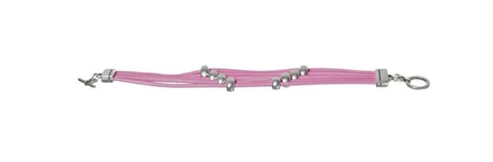 Armband 5-reihig Rosa