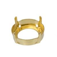 Aufnähkessel, 4 Löcher, Fassung für Swarovski Rivoli 18 mm, goldfarben matt