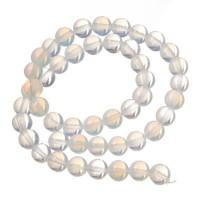 Edelsteinstrang, Opal, weiß, Kugel, 8 mm
