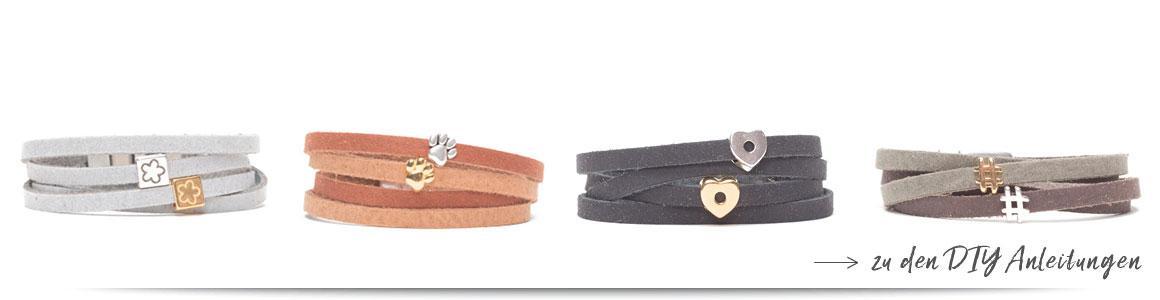 Bänder mit 5 mm Breite für Sliderperlen