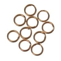 Spaltringe, Durchmesser ca. 5 mm, vergoldet, 10 Stück