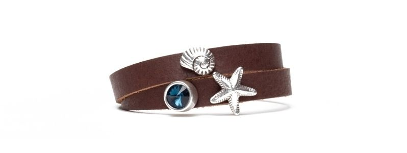 Armband mit Screws Meerestiere und Rivoli