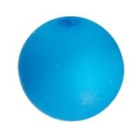 Polarisperle, rund, ca. 8 mm, Neon blau