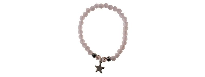 Polaris-Armband Pastellrosa Stern