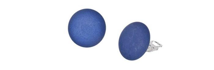 Ohrclips Blau