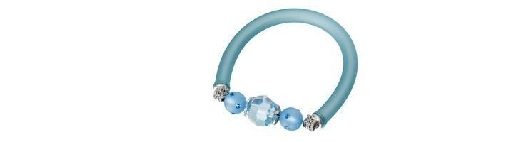 Schlaucharmband Himmelblau