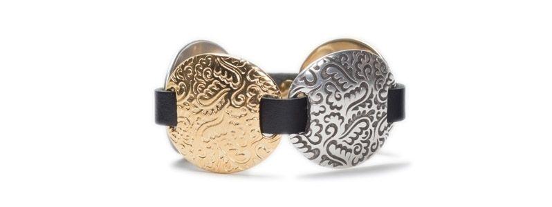Armband mit Schiebeperlen Florale Scheiben