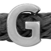 Grip-It Slider Buchstabe G, für Bänder bis 5mm Durchmesser, versilbert