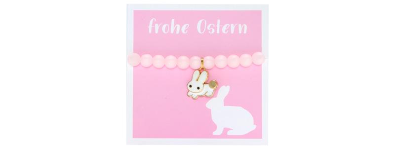 Osterschmuck Armband Hase rosa