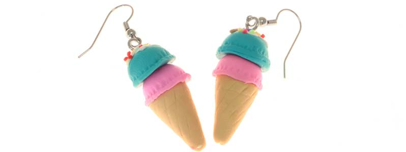 Tiny Food zuckersüße Sommerohrringe Eistüte