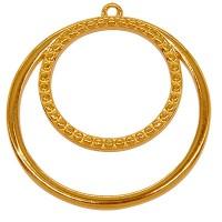 Metallanhänger Kreise, vergoldet