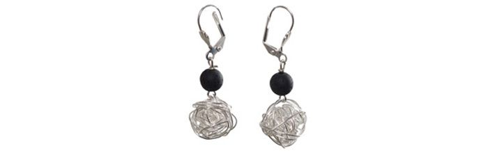 Ohrringe Wickelkugel Silber