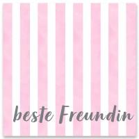 """Schmuckkarte """"Beste Freundin"""", quadratisch, Größe 8,5 x 8,5 cm"""