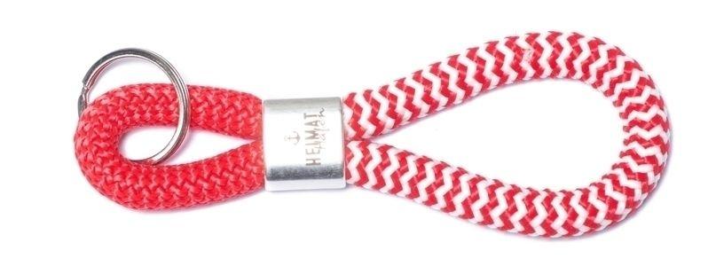 Schlüsselanhänger aus Segelseil Heimathafen Rot-Weiß