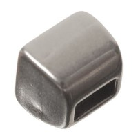 Endkappe für Hakenverschluss und breite Bänder bis 5 mm, versilbert