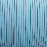 Korkband, Durchmesser 5 mm, Länge 1 m, türkis