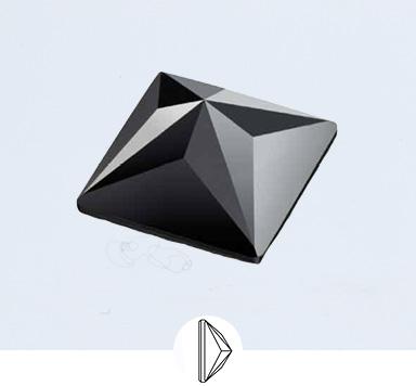 Preciosa 12 x12 mm Pyramid Square Flat Back Stone