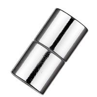 Magic-Power-Magnetverschluss Zylinder 21,5 x 10,5 mm, mit Bohrung 8 mm, silberfarben glanz