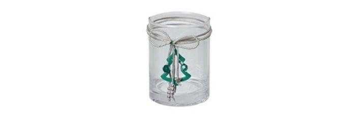 Kerzenglas Weihnachtsbaum Grün