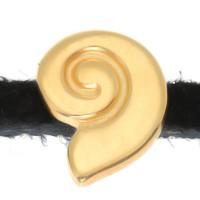Micro Slider Schnecke, 8 x 11 mm, vergoldet