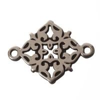 Armbandverbinder Filgranes Ornament, 20 x 15 mm, versilbert