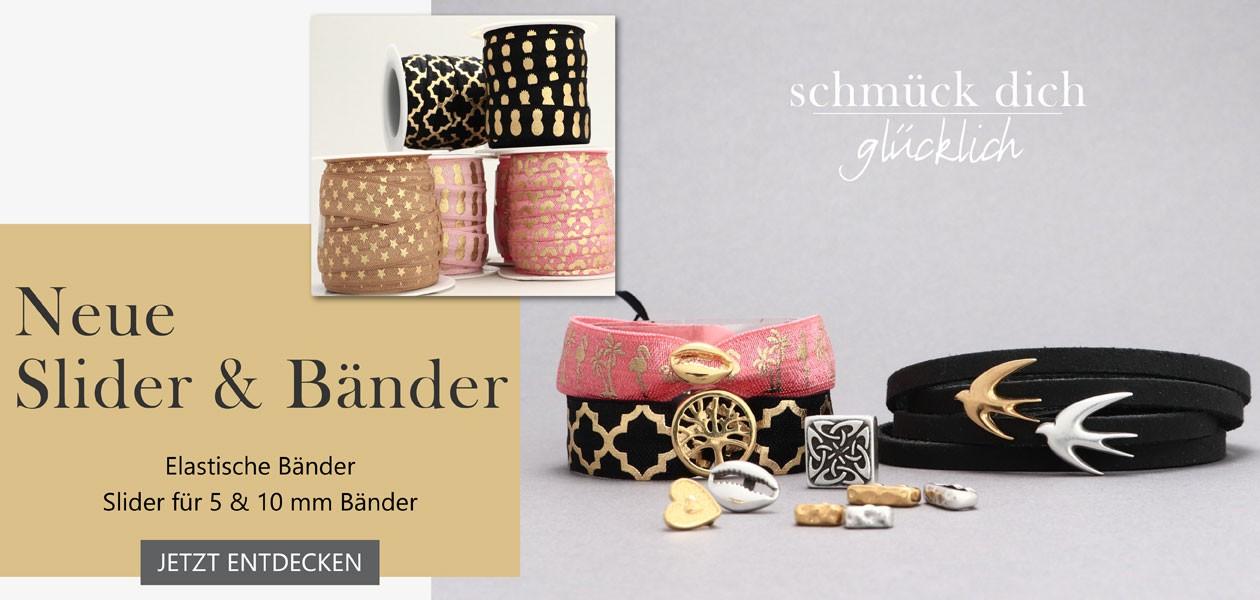 Slider/Schiebeperlen für Armbänder