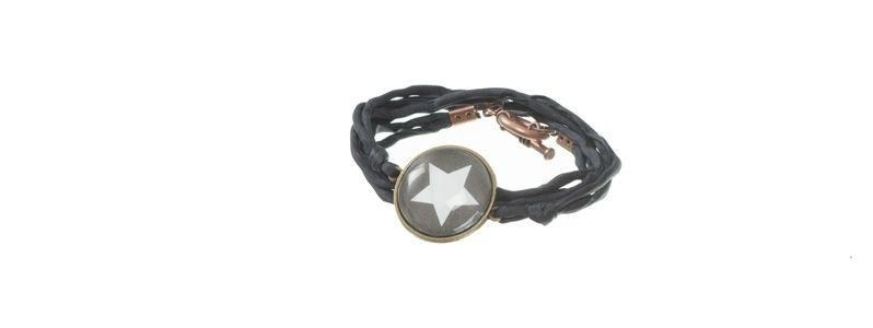 Cabochon Armband Stern