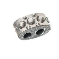 Metallperle Trennsteg ca. 10 mm, versilbert