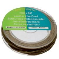 Rolle Baumwollband 1mm, Länge 5 m, hellbraun