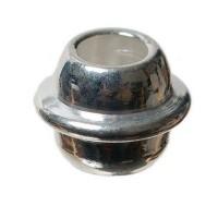 Metallperle Olive, ca. 5 mm, versilbert
