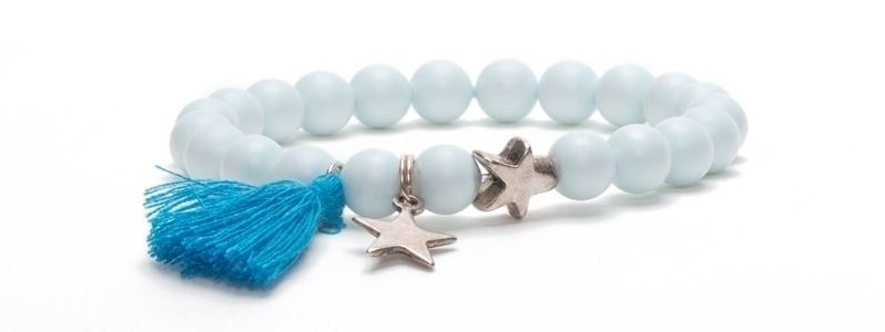 Armband Blue Bell mit Swarovski Crystal Pearls
