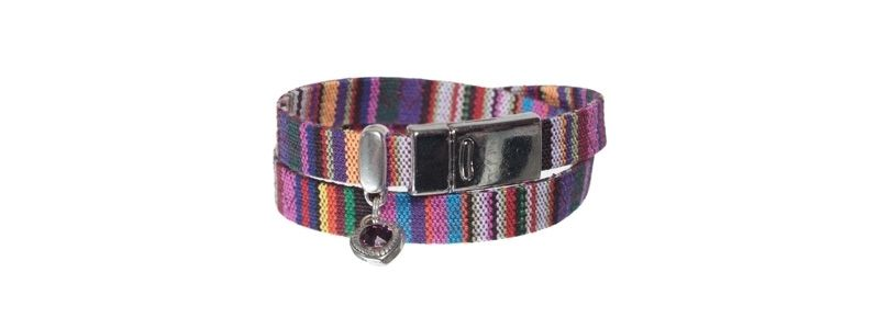 Flaches Ethnoarmband Multicolor mit Magnet