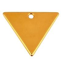 Metallanhänger Dreieck,  21 x 19 mm, vergoldet