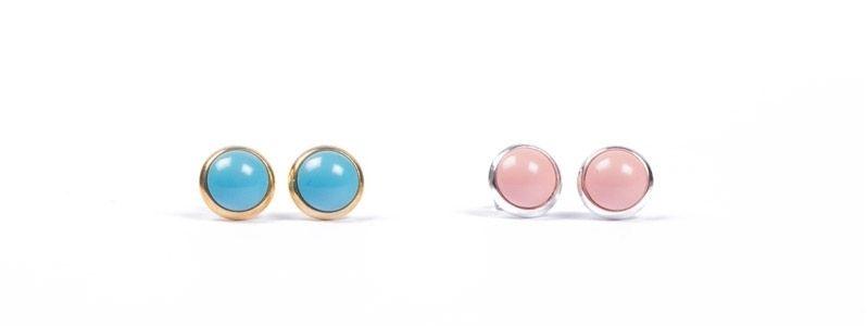 Ohrestecker kleine Glascbochons Crystal Pearl