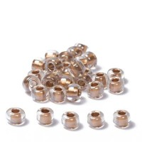 Miyuki Rocailles rund 6/0 (ca. 4 mm), Metallic Gold-Lined Crystal, ca. 20 gr