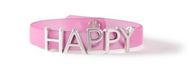 Armband mit Buchstabenperlen HAPPY