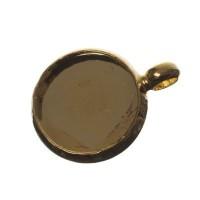 Anhänger/Fassung für Cabochons, rund 10 mm, goldfarben