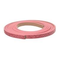 Synthetikband, flach, Breite 5 mm, Länge ca. 1 m, Schlangenprint rosa