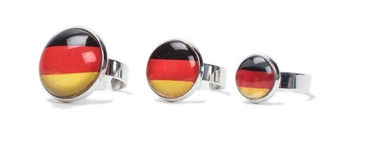 Schwarz-Rot-Gold Fußballringe
