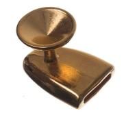 Verschluss, Fassung für Rivoli 12 mm, 21 x 15 mm, vergoldet