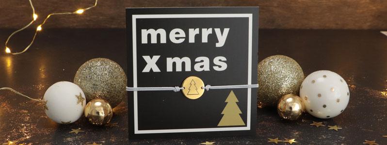"Weihnachtsarmbänder ""Merry Xmas"""