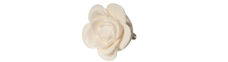 """Ring """"Weiße Rose"""""""