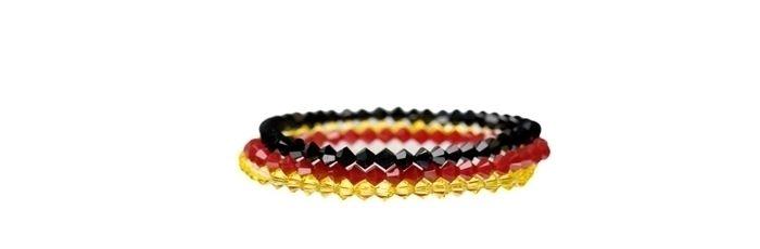 Armbänder Schwarz Rot Gold