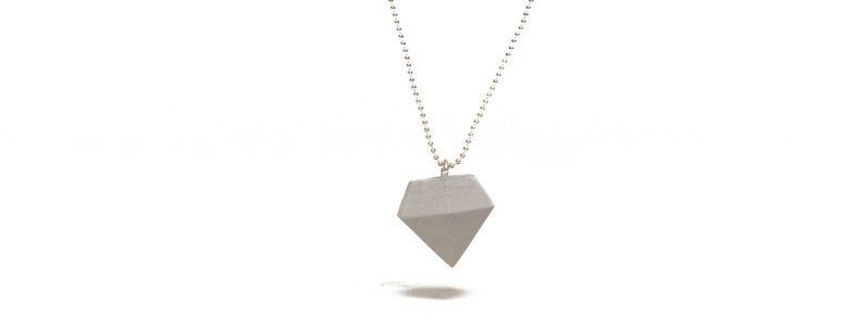 Beton Style -Kette mit Anhänger Diamant