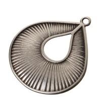 Metallanhänger Tropfen, 35 x 31 mm, versilbert