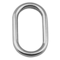 Metallanhänger ovaler Ring, Durchmesser 30 mm, versilbert