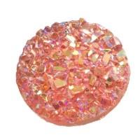 Cabochon aus Kunstharz, Druzy-Effekt , rund, Durchmesser 12 mm, magenta