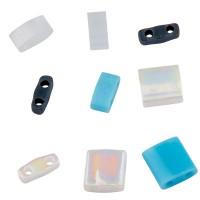 Miyuki Tila Bead Mix 5 mm, Waves, assorted sizes, Röhrchen mit ca. 7,2 gr